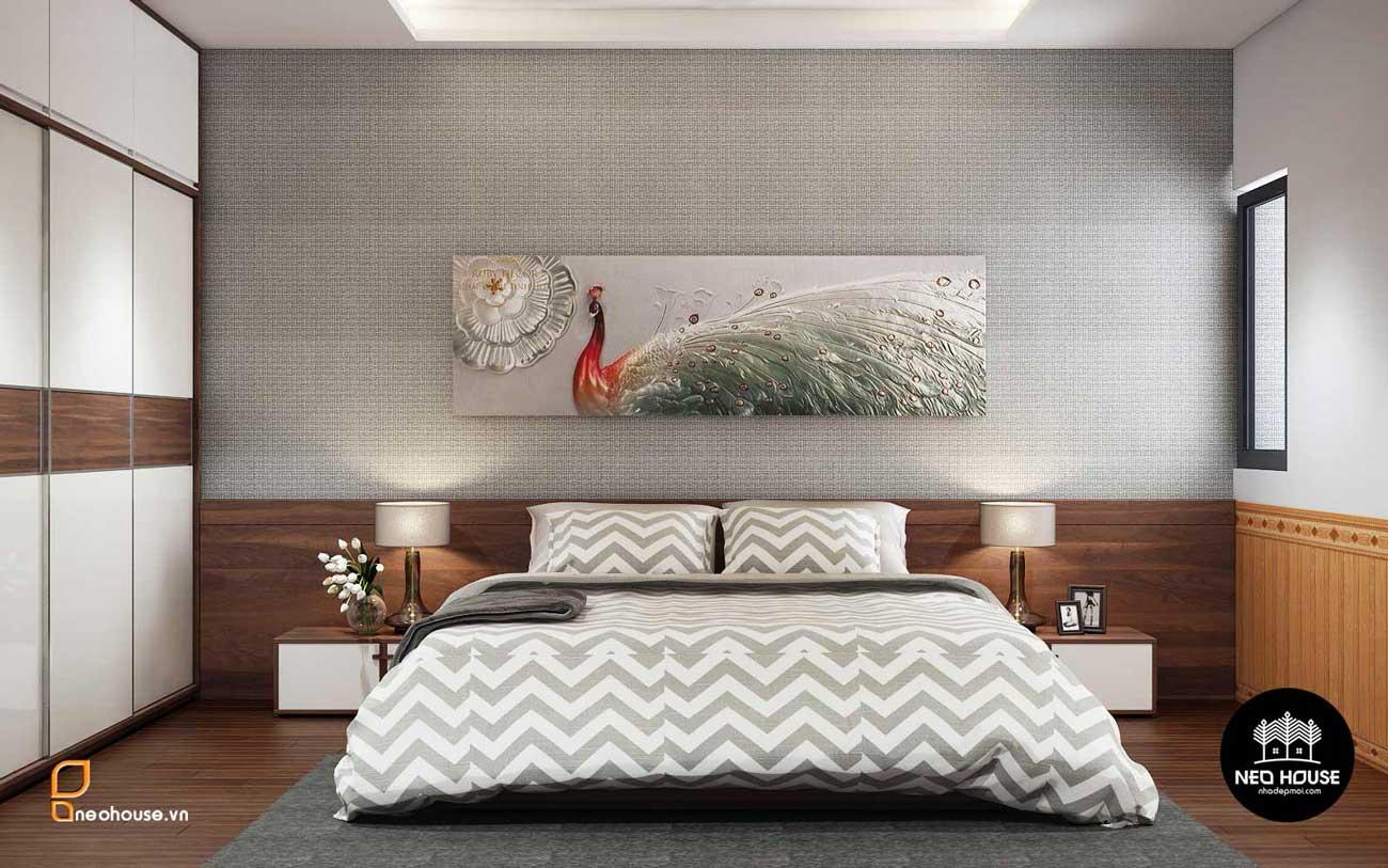 Thiết kế nội thất phòng ngủ Master nhà phố 8x14m. Ảnh 1