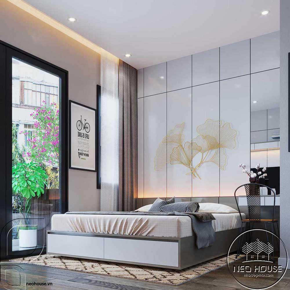 Thiết kế nội thất phòng ngủ hiện đại. Ảnh 1