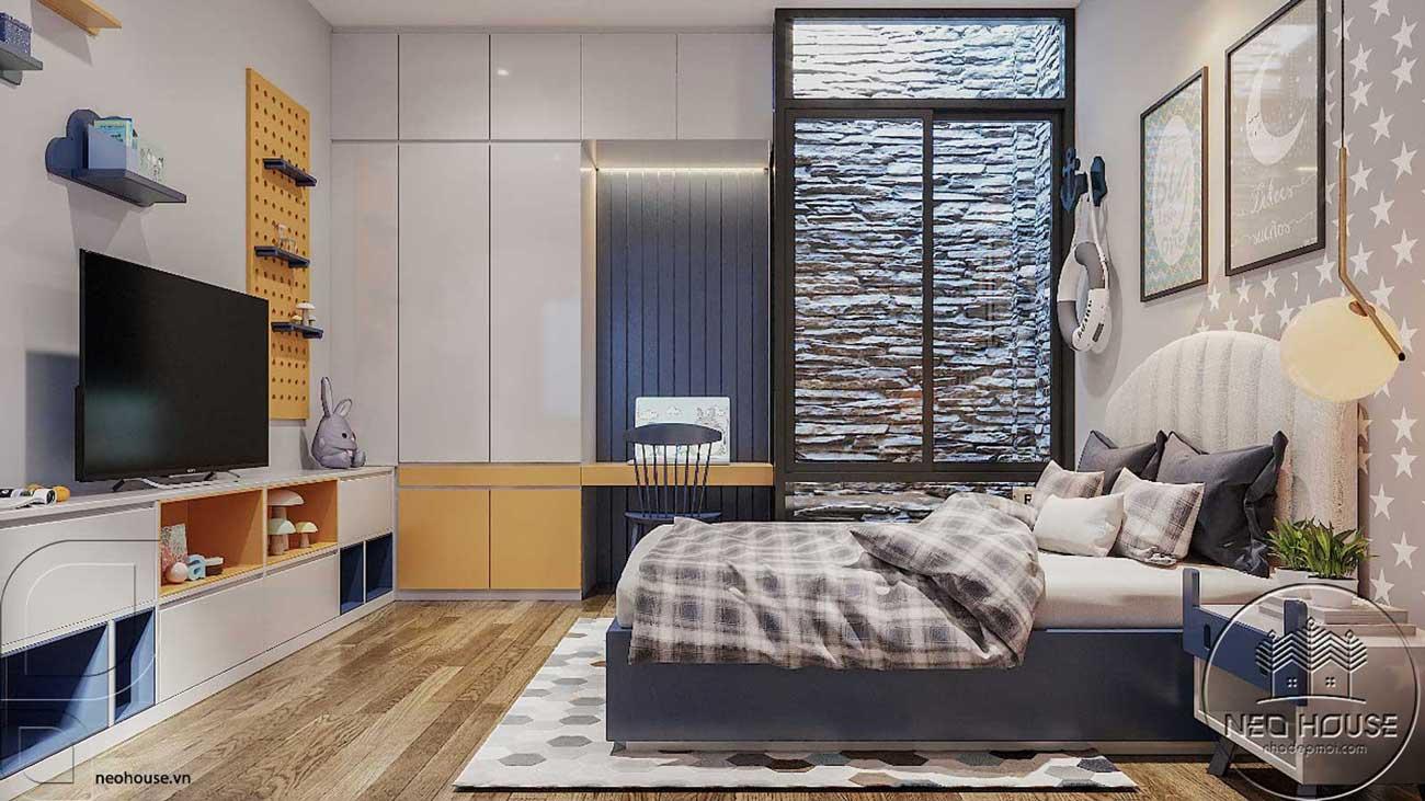 Thiết kế nội thất phòng ngủ hiện đại. Ảnh 3