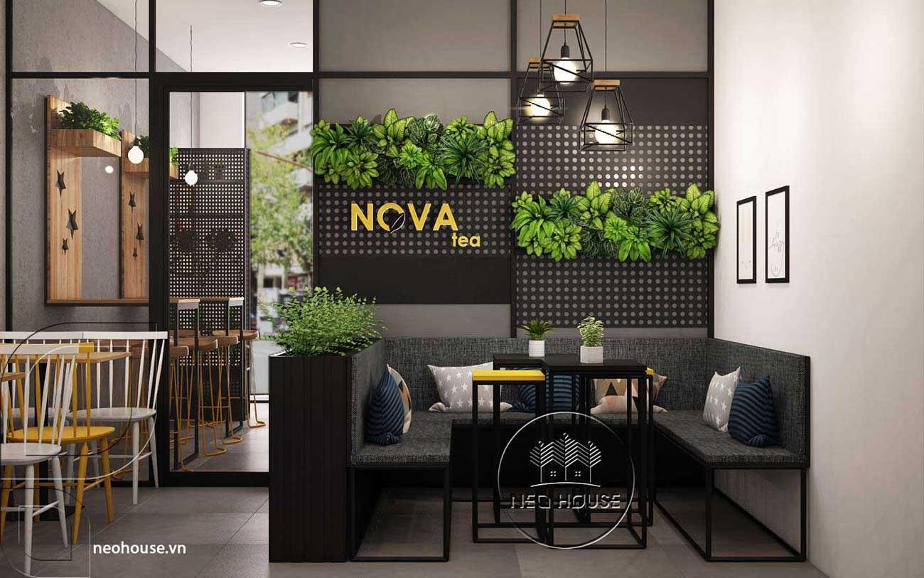 Mẫu thiết kế nội thất quán trà sữa Nova Tea. Ảnh 1