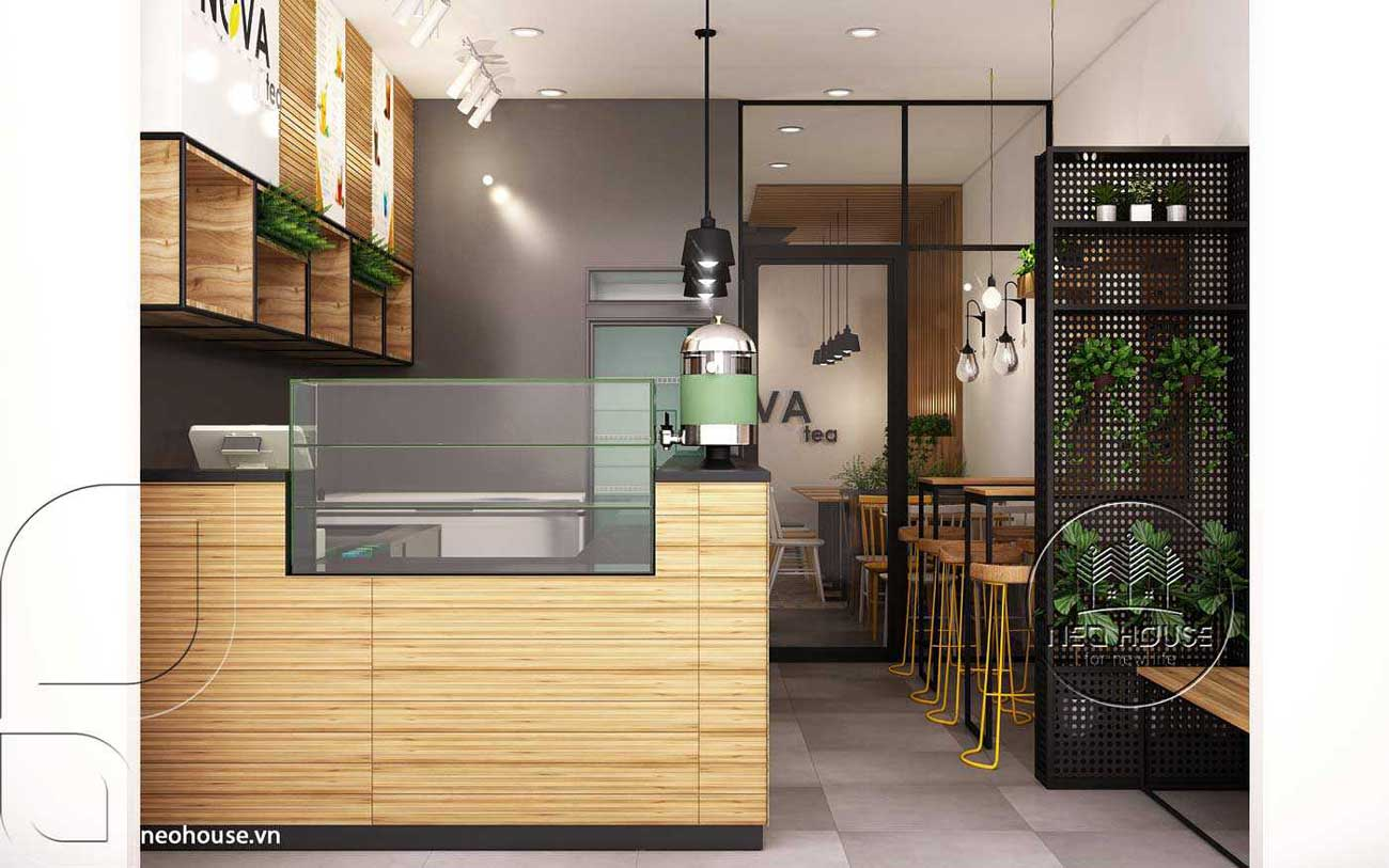Mẫu thiết kế nội thất quán trà sữa Nova Tea. Ảnh 5