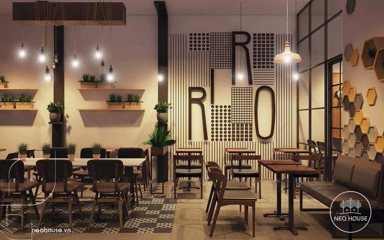 Thiết kế nội thất quán trà sữa RiRo. Ảnh 7