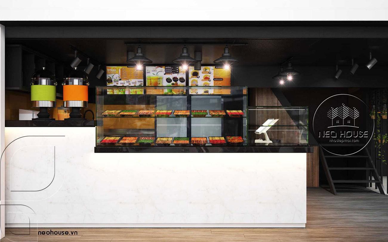 Thiết kế nội thất quán trà sữa RiRo tại HCM. Ảnh 1