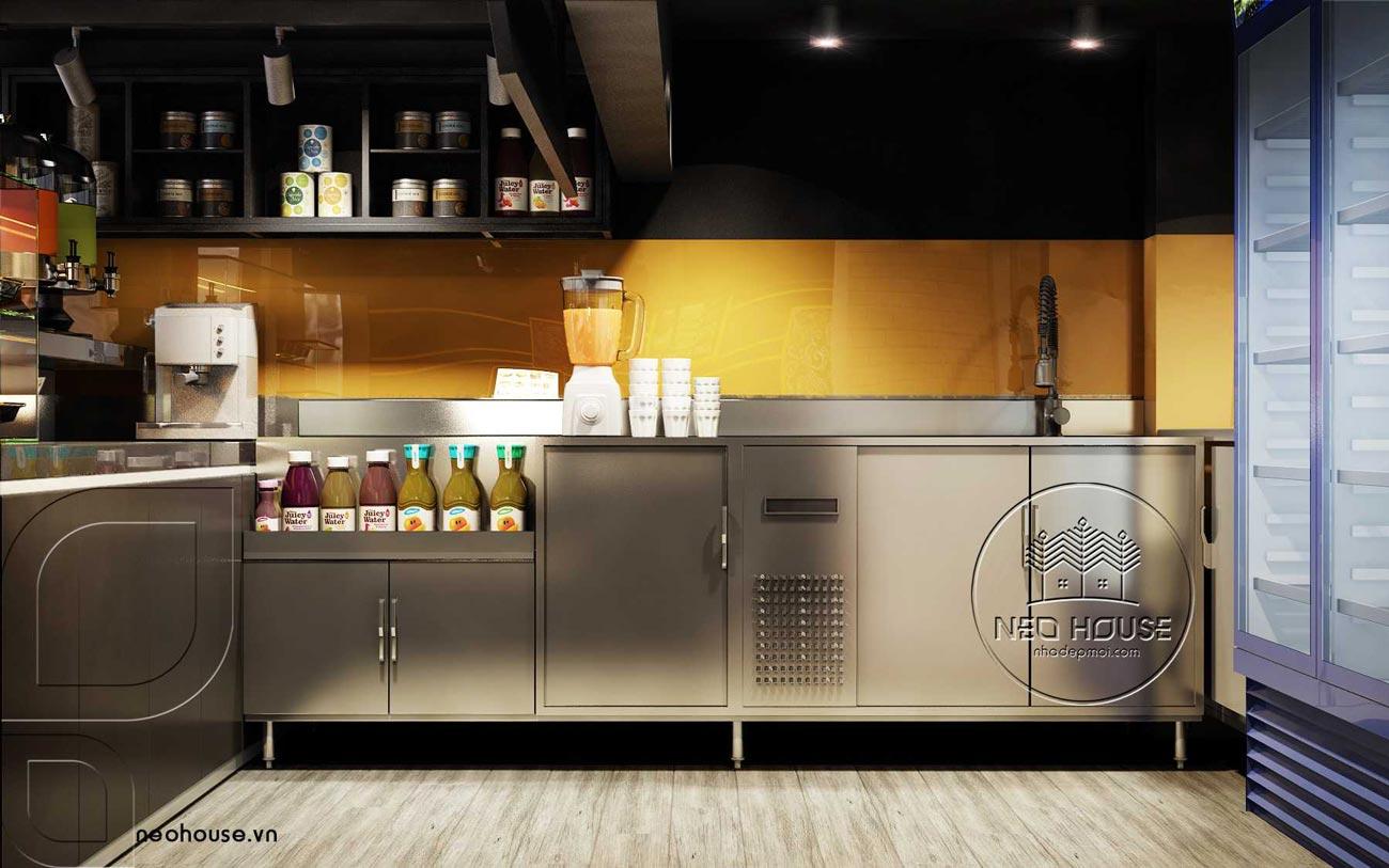 Thiết kế nội thất quán trà sữa RiRo tại HCM. Ảnh 2