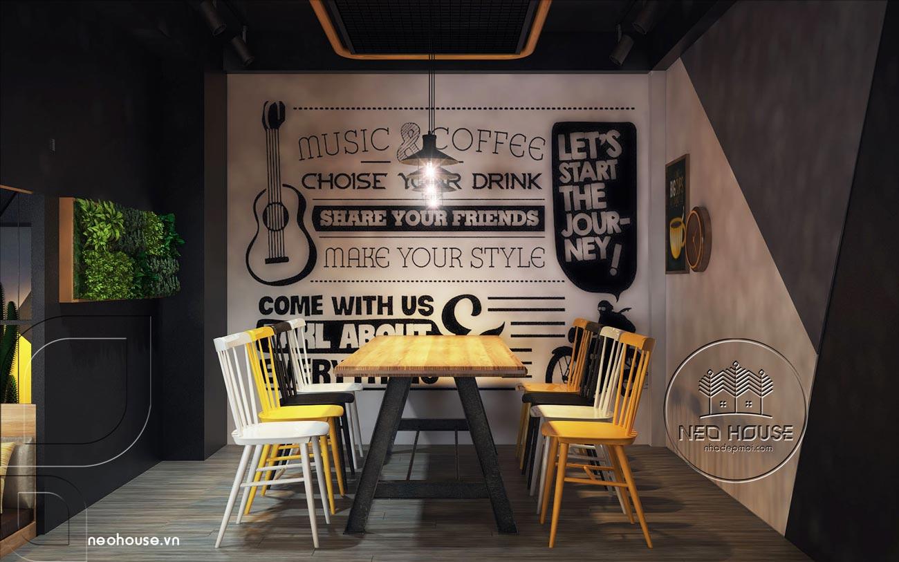Thiết kế nội thất quán trà sữa RiRo tại HCM. Ảnh 3