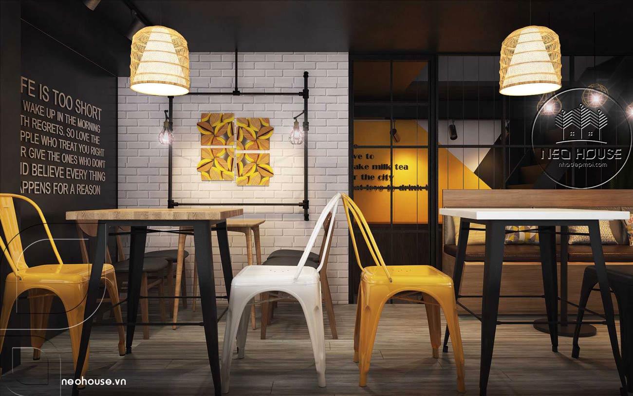 Thiết kế nội thất quán trà sữa RiRo tại HCM. Ảnh 4