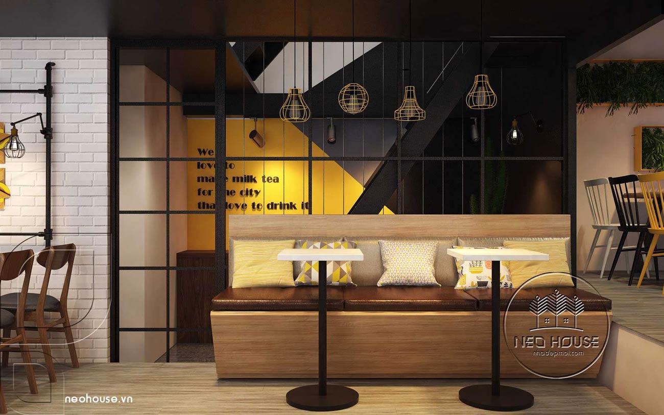 Thiết kế nội thất quán trà sữa RiRo tại HCM. Ảnh 5