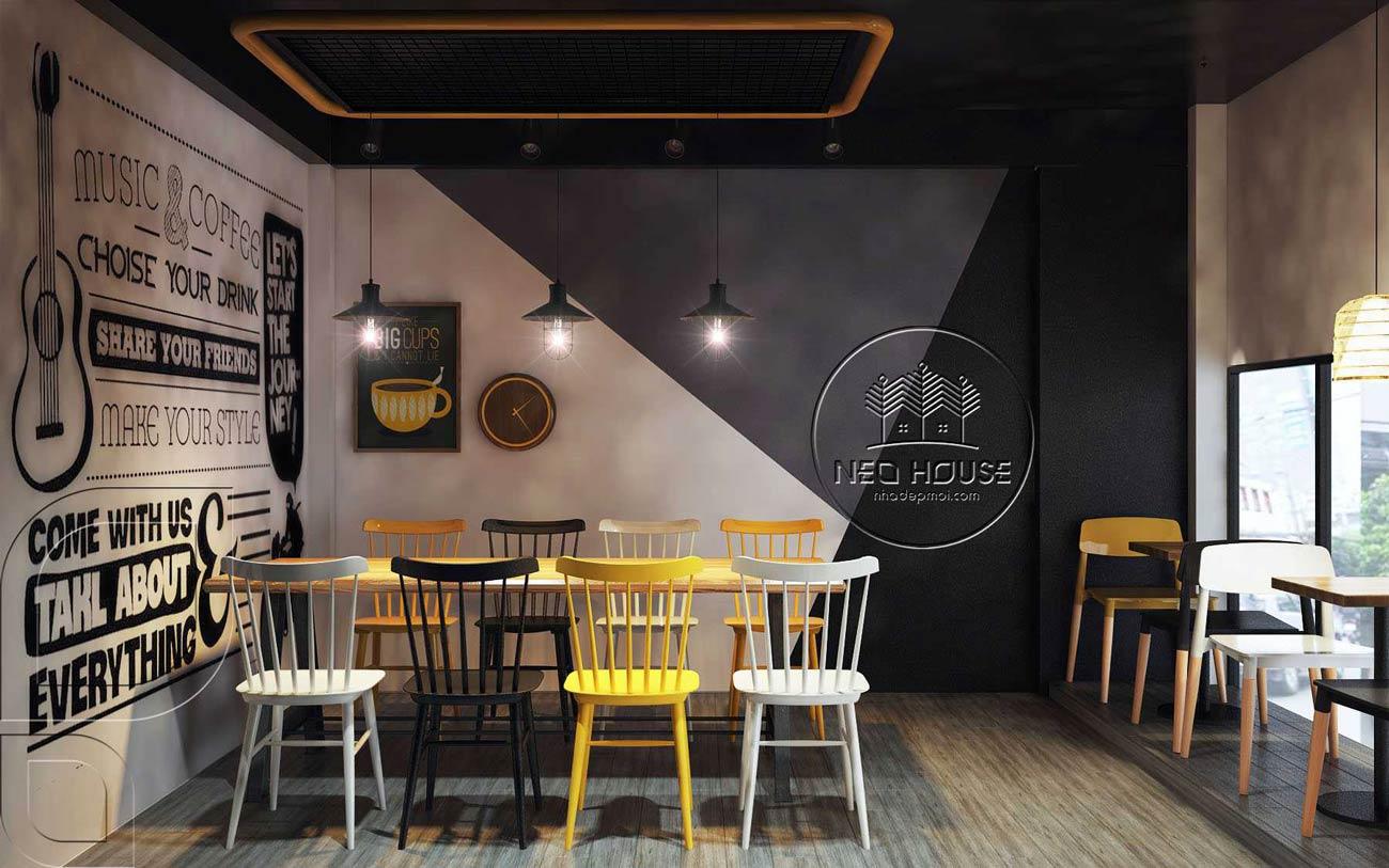 Thiết kế nội thất quán trà sữa RiRo tại HCM. Ảnh 6