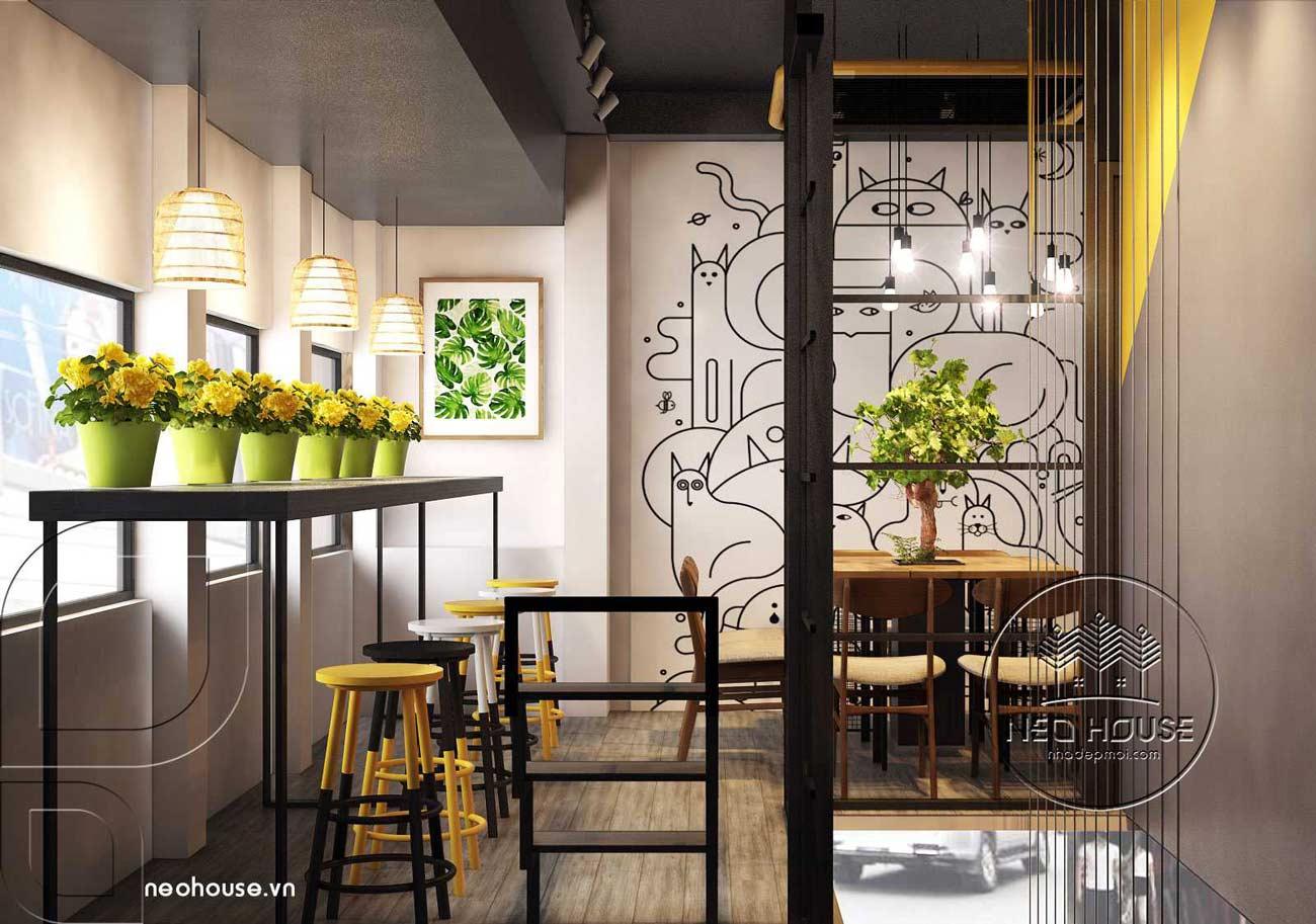 Thiết kế nội thất quán trà sữa RiRo tại HCM. Ảnh 8