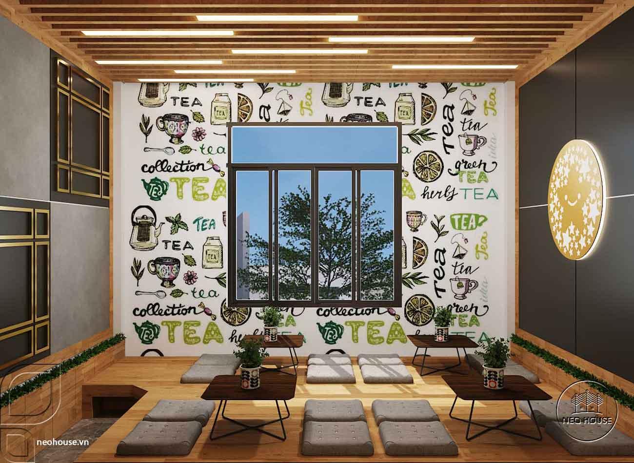 Mẫu thiết kế nội thất quán trà sữa Tocotoco 57m2. Ảnh 8