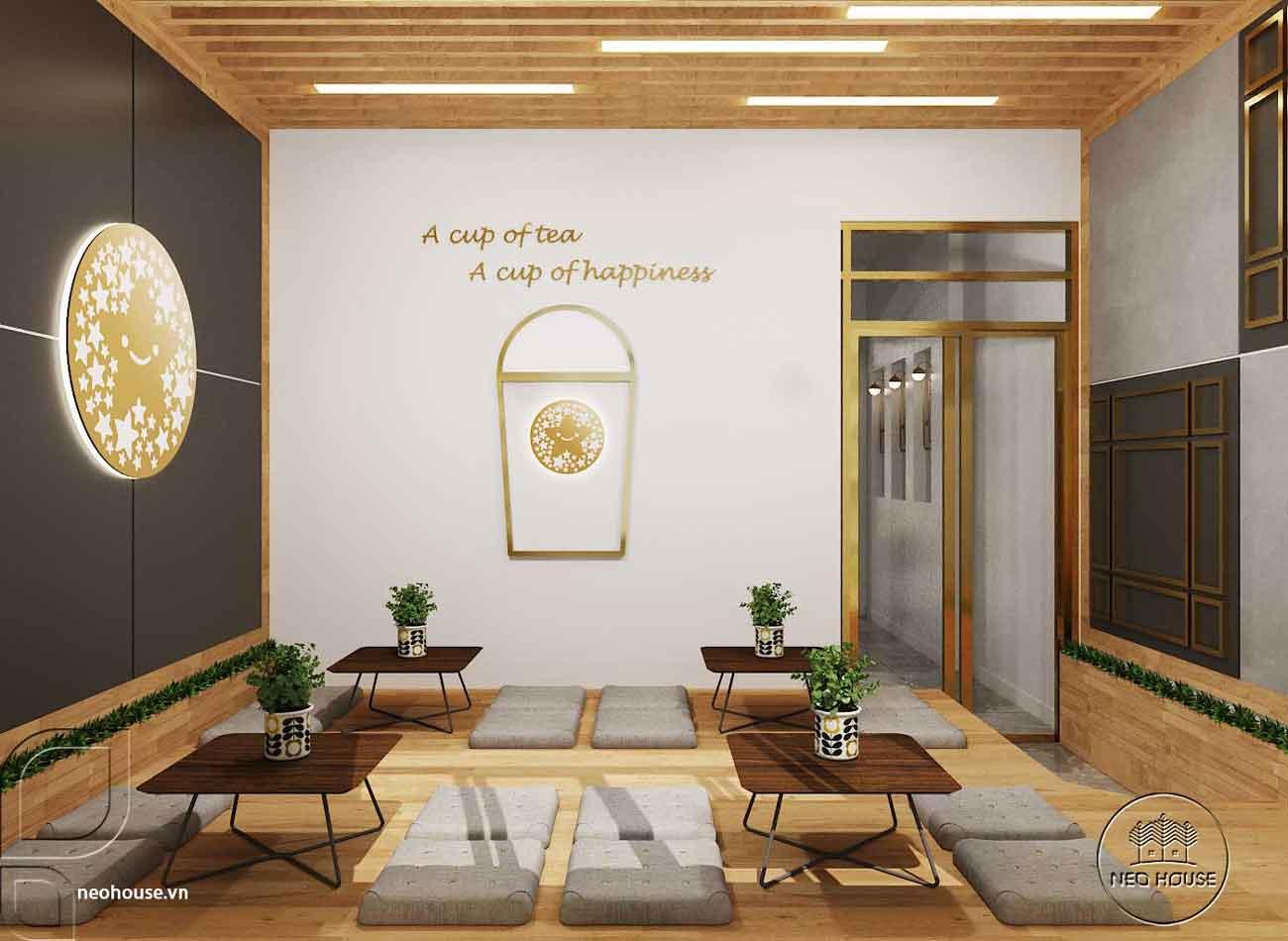 Mẫu thiết kế nội thất quán trà sữa Tocotoco 57m2. Ảnh 9