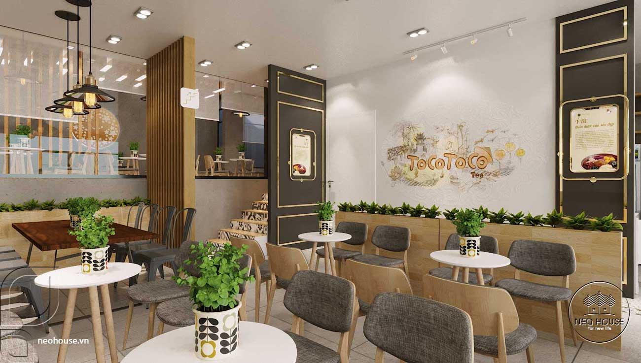Thiết kế nội thất quán trà sữa Tocotoco. Ảnh 4
