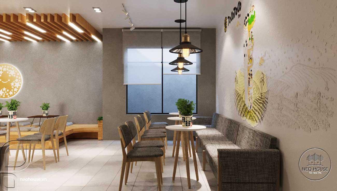 Thiết kế nội thất quán trà sữa Tocotoco. Ảnh 5