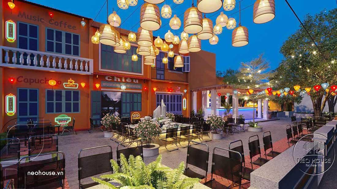 Thiết kế quán cafe sân vườn. Ảnh 2