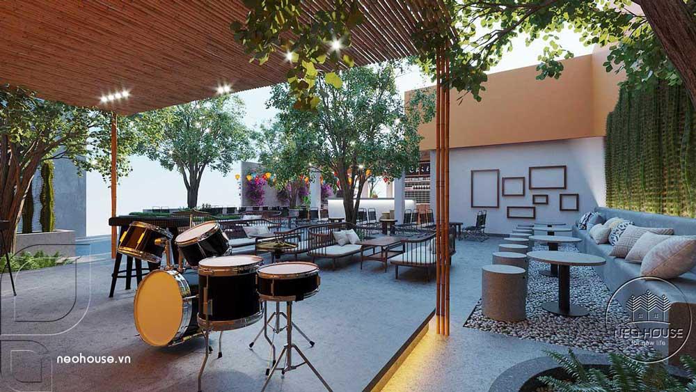 Thiết kế quán cafe sân vườn. Ảnh 12