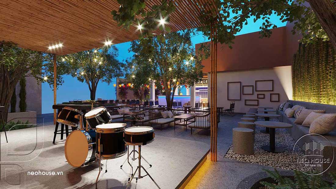 Thiết kế quán cafe sân vườn. Ảnh 13