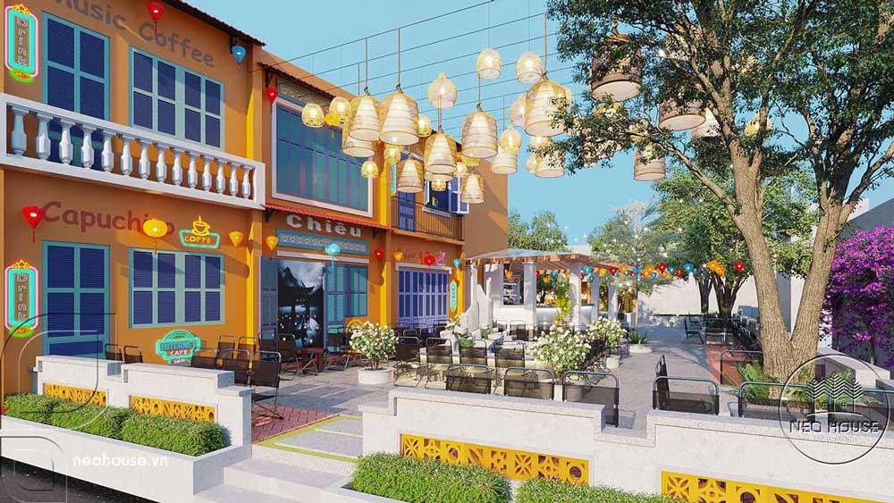 Thiết kế quán cafe sân vườn. Ảnh 3