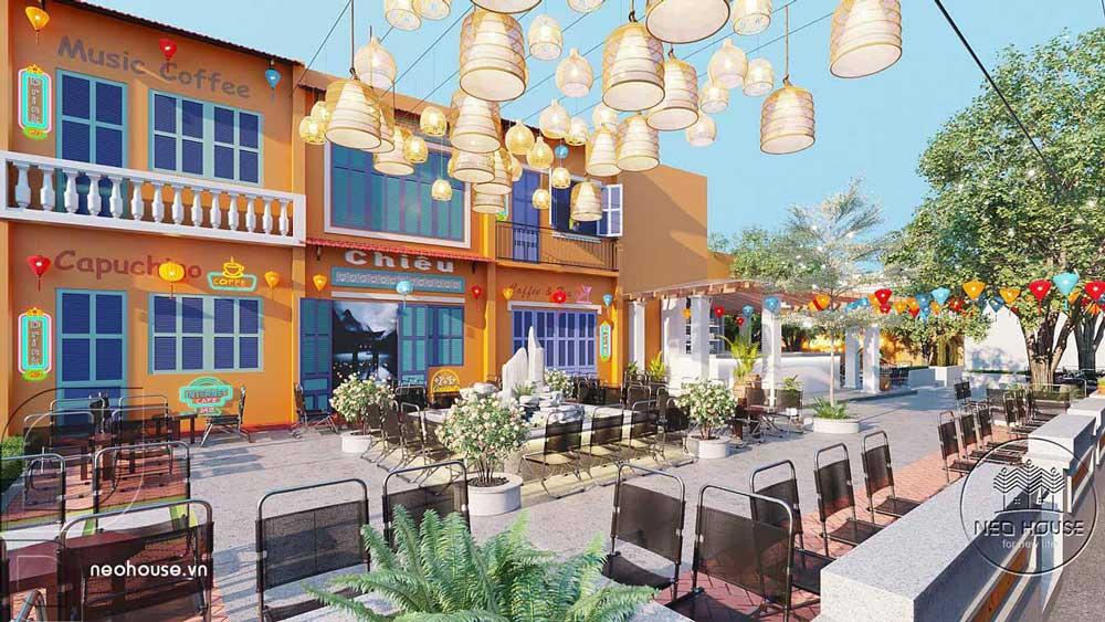 Thiết kế quán cafe sân vườn. Ảnh 5