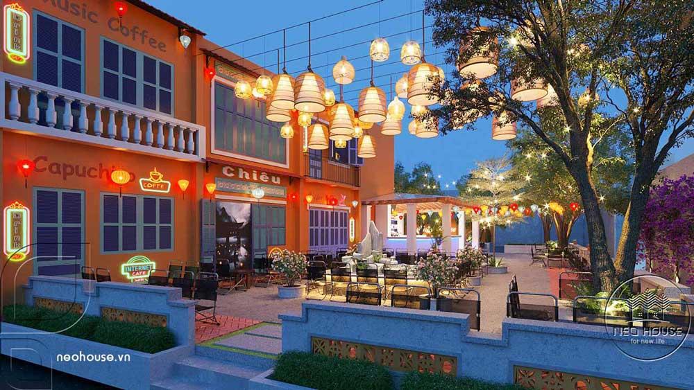 Thiết kế quán cafe sân vườn. Ảnh 4
