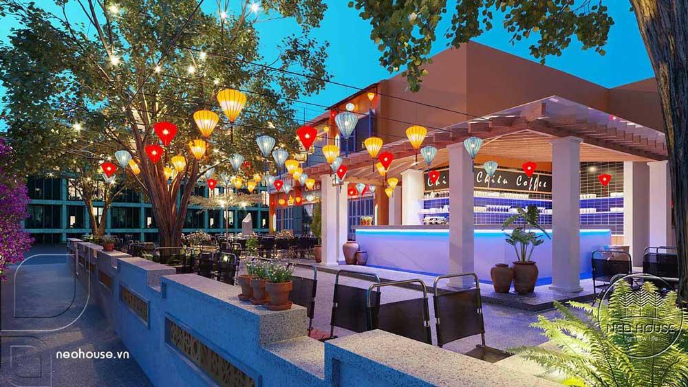 Thiết kế quán cafe sân vườn. Ảnh 7