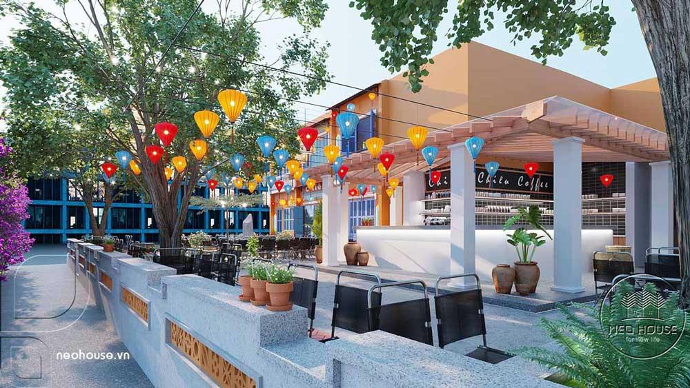 Thiết kế quán cafe sân vườn. Ảnh 8
