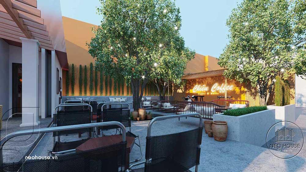 Thiết kế quán cafe sân vườn. Ảnh 11