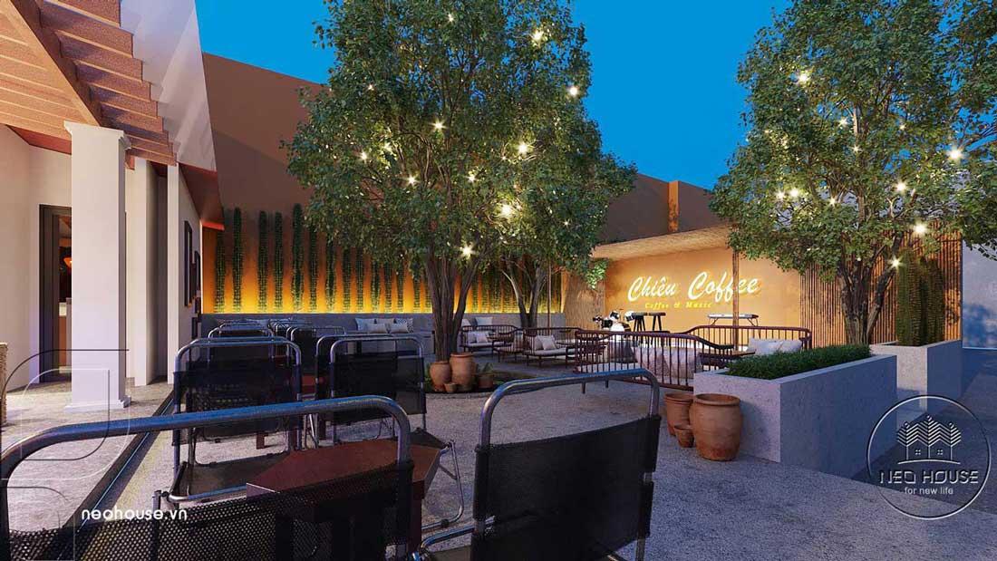 Thiết kế quán cafe sân vườn. Ảnh 10