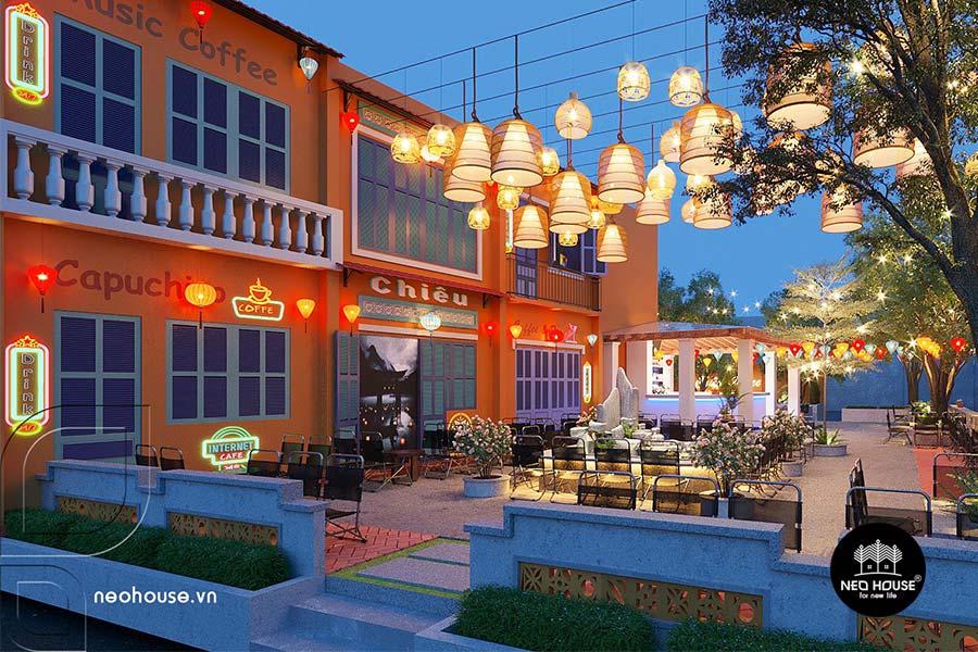 Thiết kế quán cafe sân vườn. Ảnh bìa