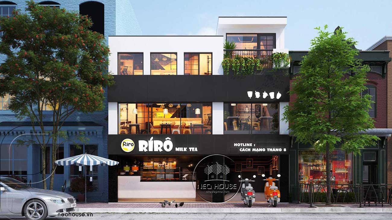 Thiết kế quán trà sữa RiRo tại HCM. Ảnh 1