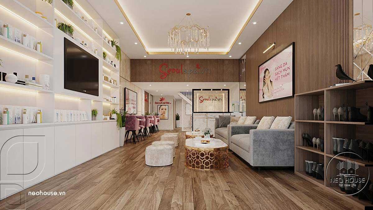 Thiết kế thi công nội thất spa Seoulspa.vn. Ảnh 1