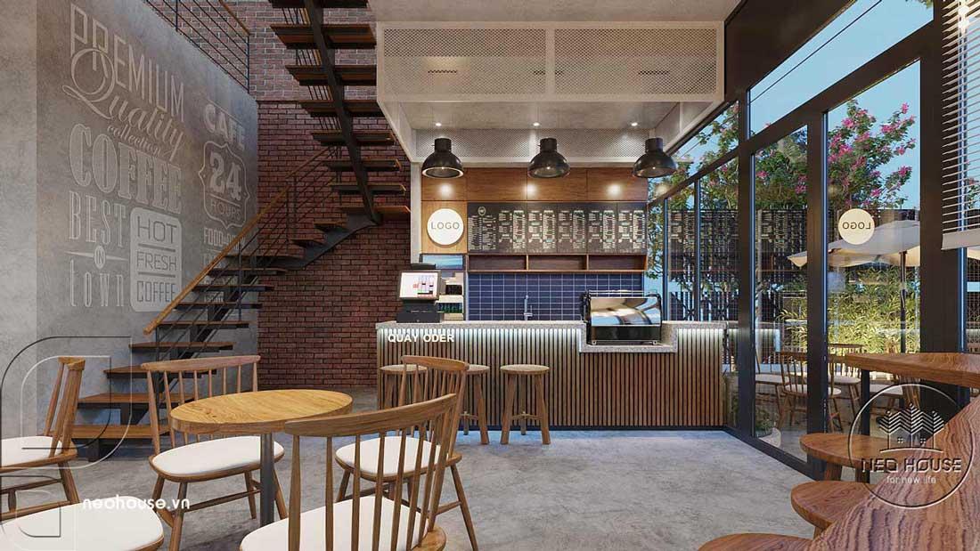 Thiết kế nội thất quán cafe sân vườn hiện đại. Ảnh 5