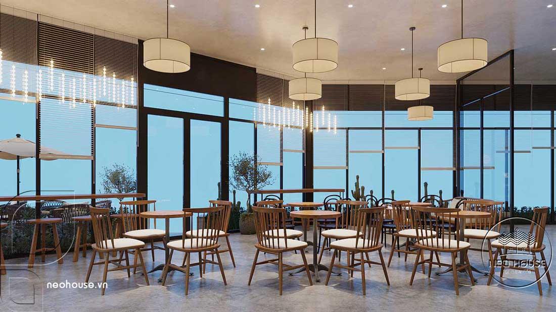 Thiết kế nội thất quán cafe sân vườn hiện đại. Ảnh 6