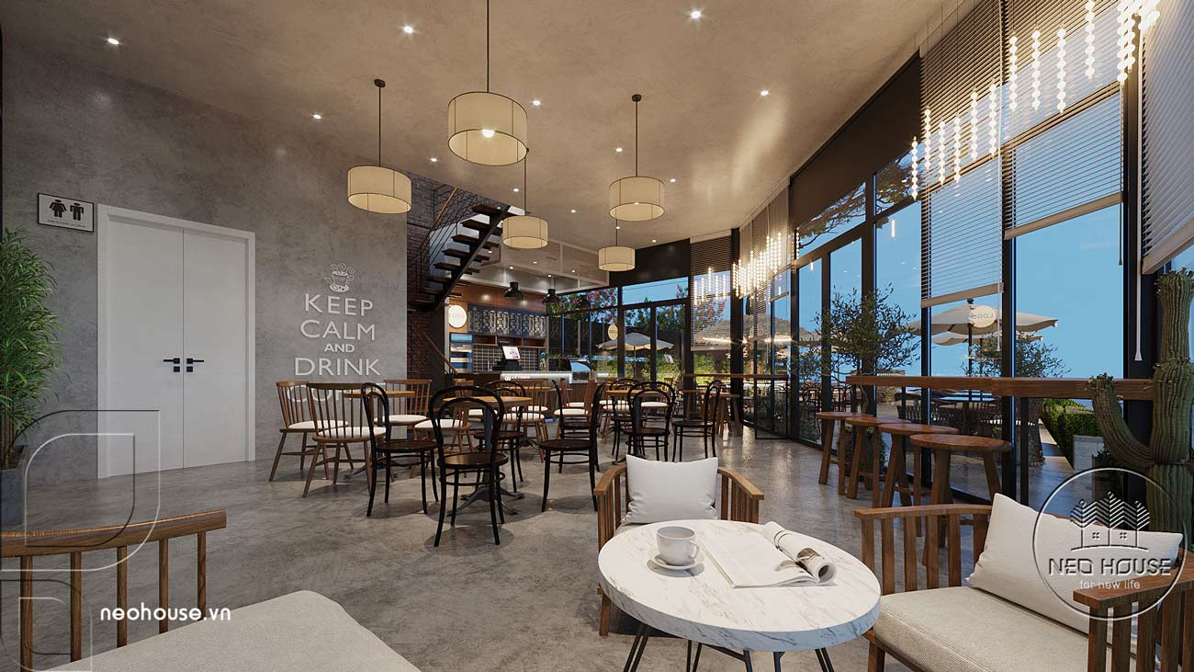 Thiết kế nội thất quán cafe sân vườn hiện đại. Ảnh 8