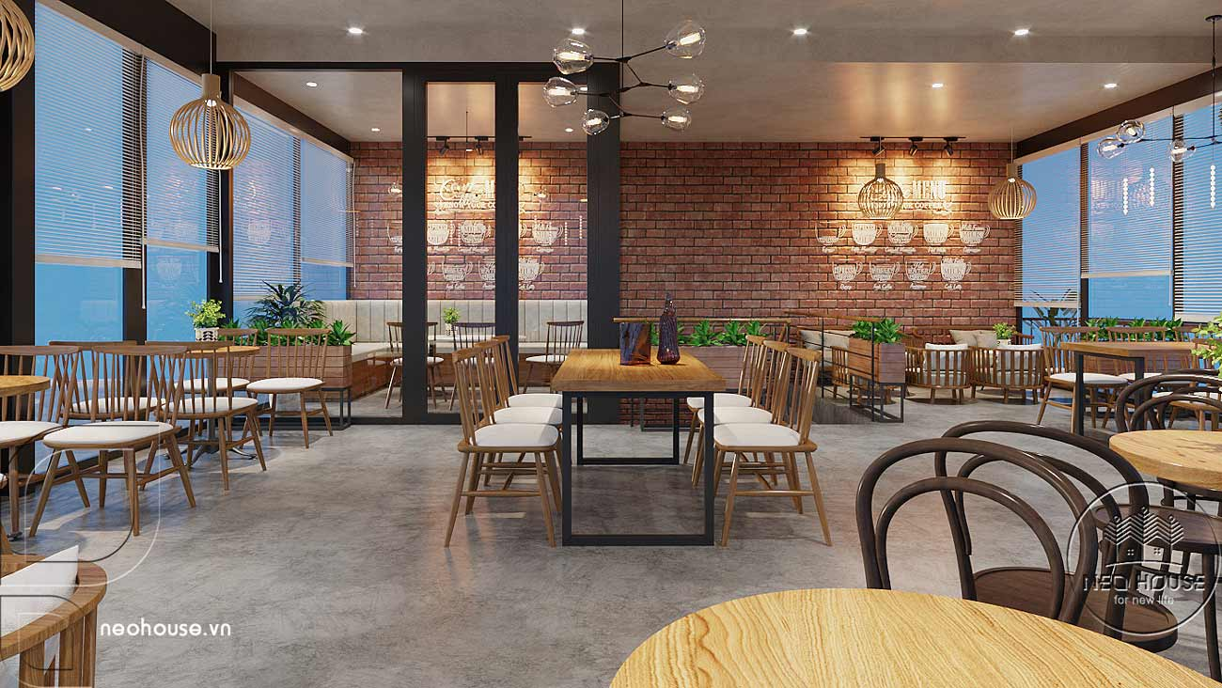 Thiết kế nội thất quán cafe sân vườn hiện đại. Ảnh 11