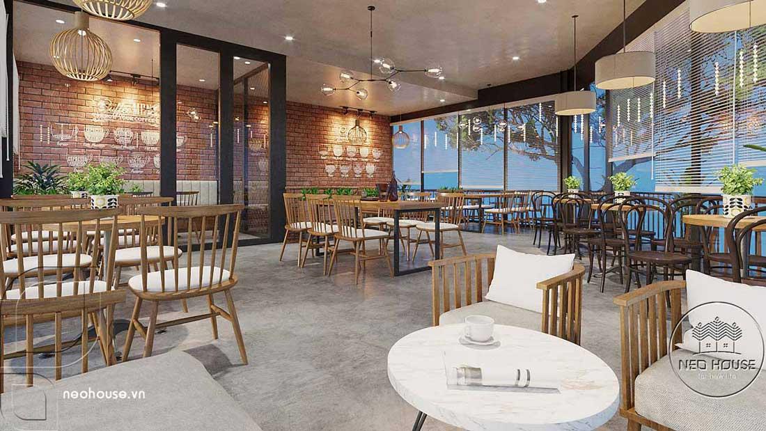 Thiết kế nội thất quán cafe sân vườn hiện đại. Ảnh 9