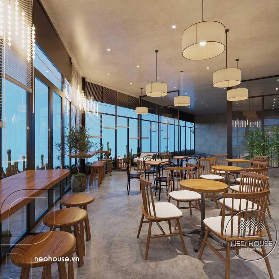 Thiết kế nội thất quán cafe sân vườn hiện đại. Ảnh 7
