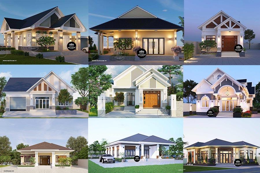 20 mẫu thiết kế nhà cấp 4 mái thái đẹp tại nông thôn giá rẻ