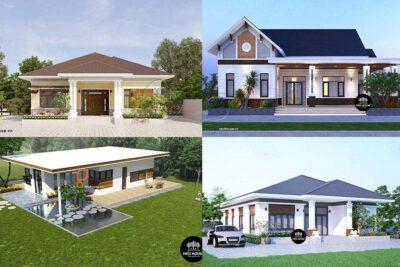 10 Mẫu thiết kế nhà cấp 4 nông thôn đơn giản siêu tiết kiệm