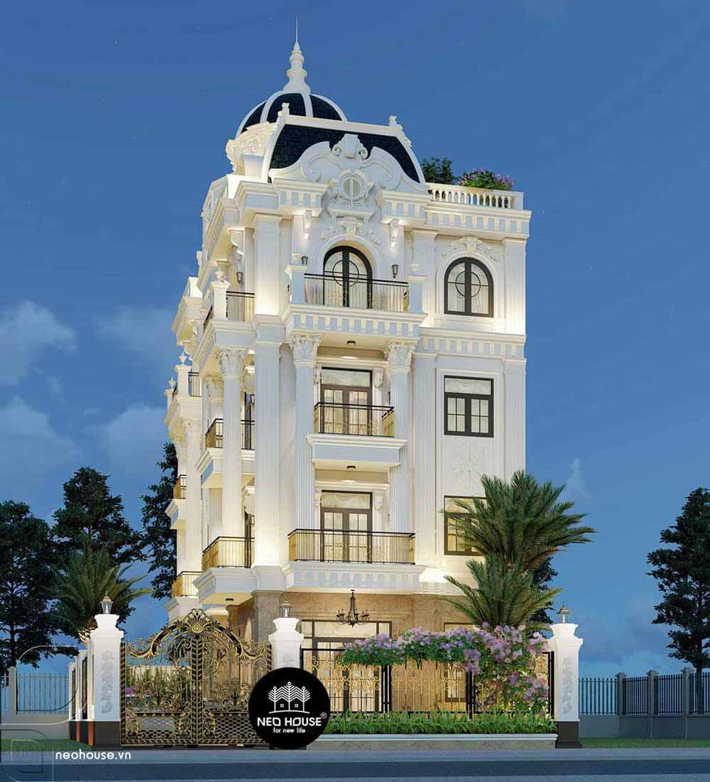 Thiết kế biệt thự tân cổ điển 5 tầng. Ảnh 8