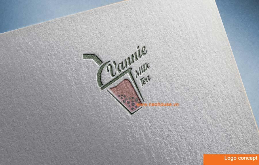 Phương án 1 thiết kế logo quán trà sữa hiện đại. Ảnh 3