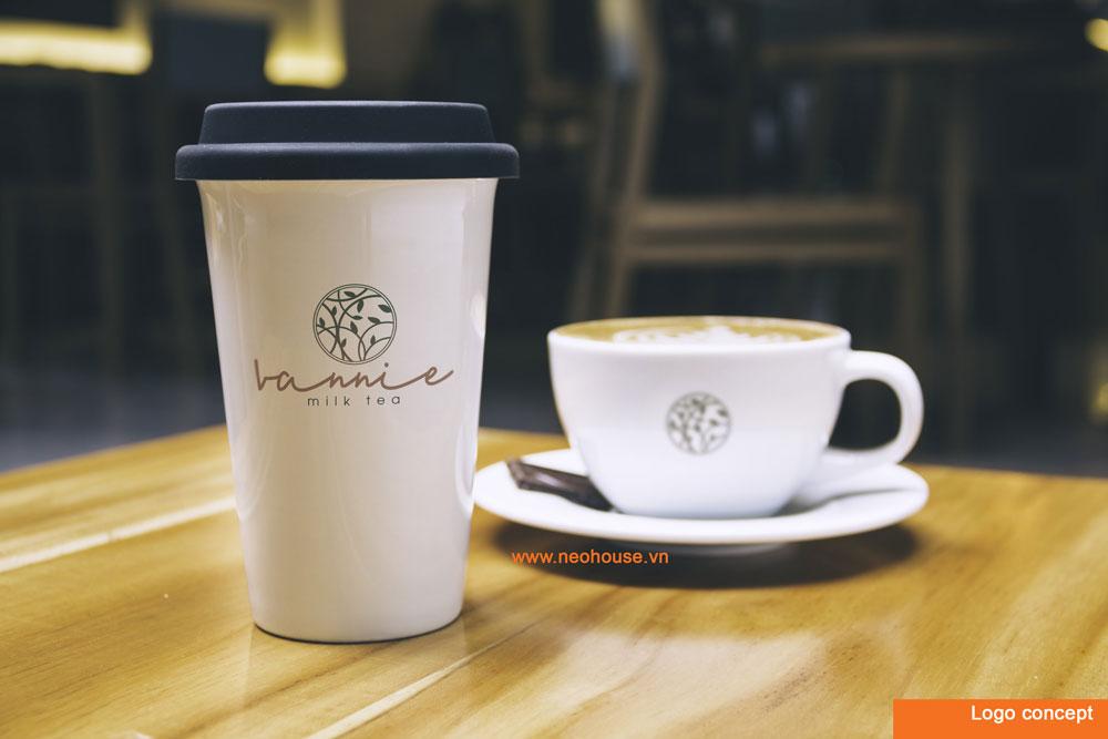 Phương án 2 thiết kế logo quán trà sữa hiện đại. Ảnh 1