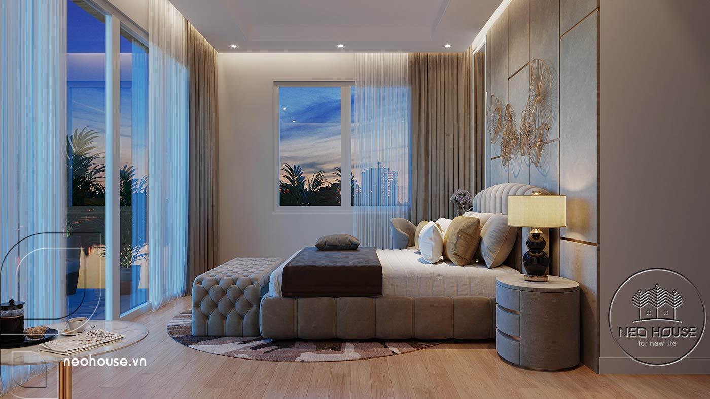 Thiết kế nội thất phòng ngủ Master biệt thự mái thái 2 tầng. Ảnh 2
