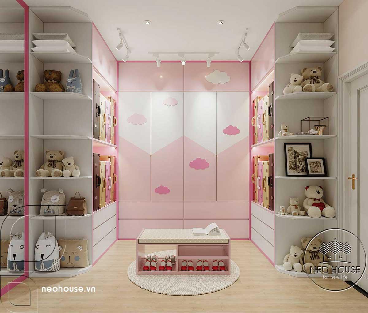 Phối cảnh thiết kế nội thất biệt thự tân cổ điển đẹp 4 tầng cho phòng ngủ Master 02. Ảnh 4