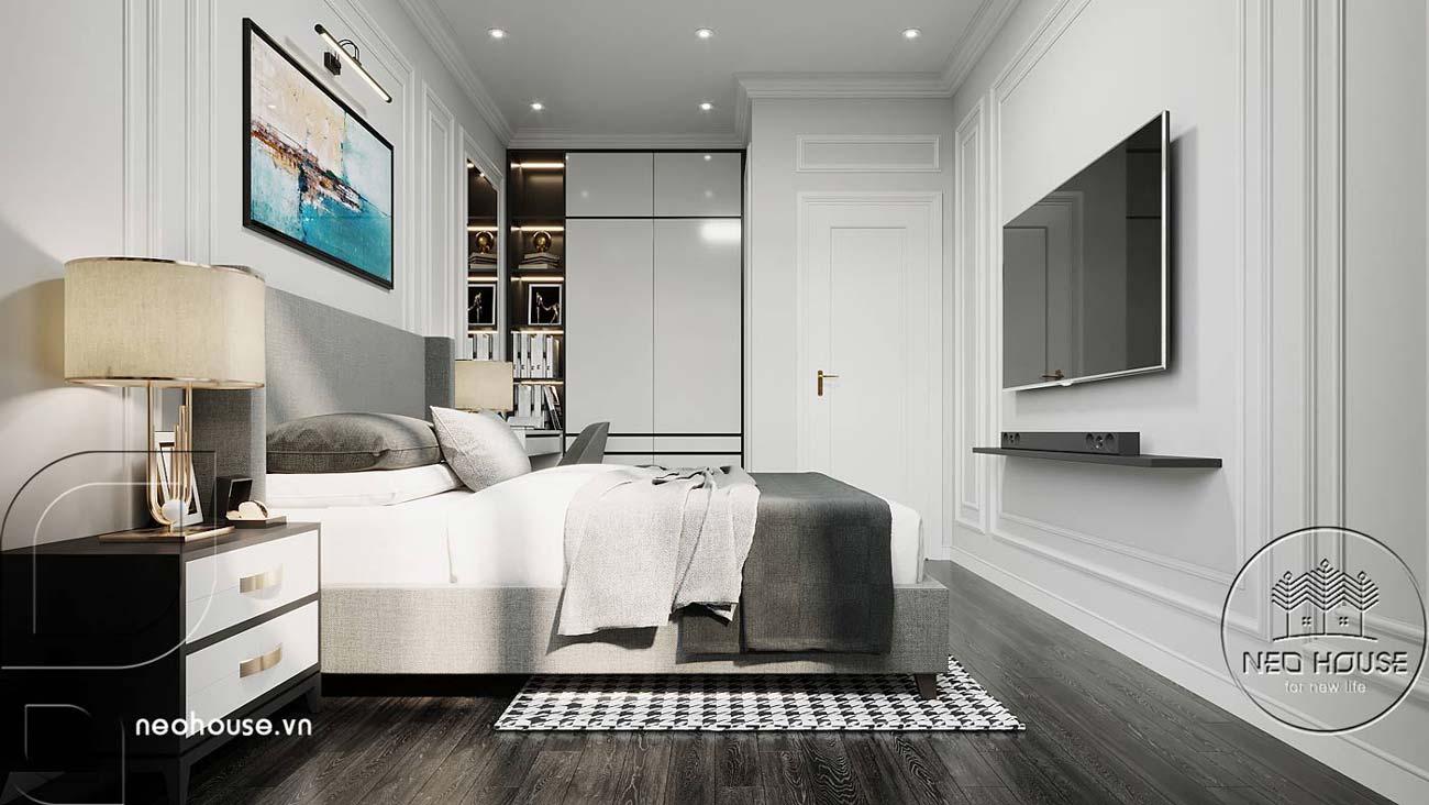 Thiết kế nội thất phòng ngủ bé trai nhà biệt thự 4 tầng đẹp 7x15m tại Đà Nẵng