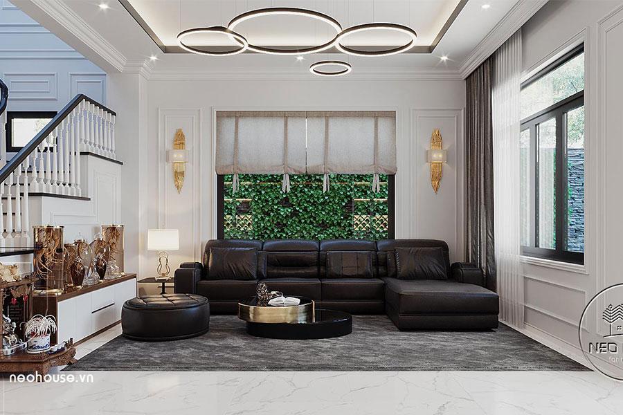 Thiết kế nội thất biệt thự tân cổ điển đẹp 4 tầng. Ảnh bìa