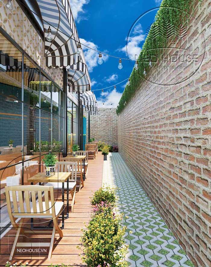 Thiết kế quán trà sữa sân vườn hiện đại. Ảnh 17