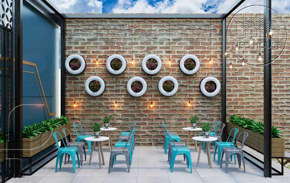 Thiết kế quán trà sữa sân vườn hiện đại. Ảnh 10