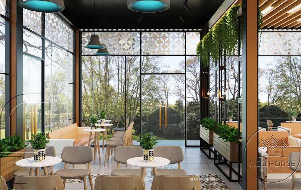 Thiết kế quán trà sữa sân vườn hiện đại. Ảnh 5