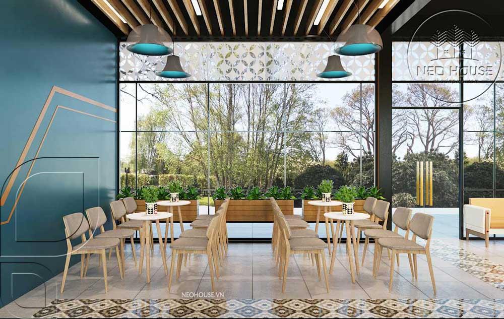 Thiết kế quán trà sữa sân vườn hiện đại. Ảnh 6