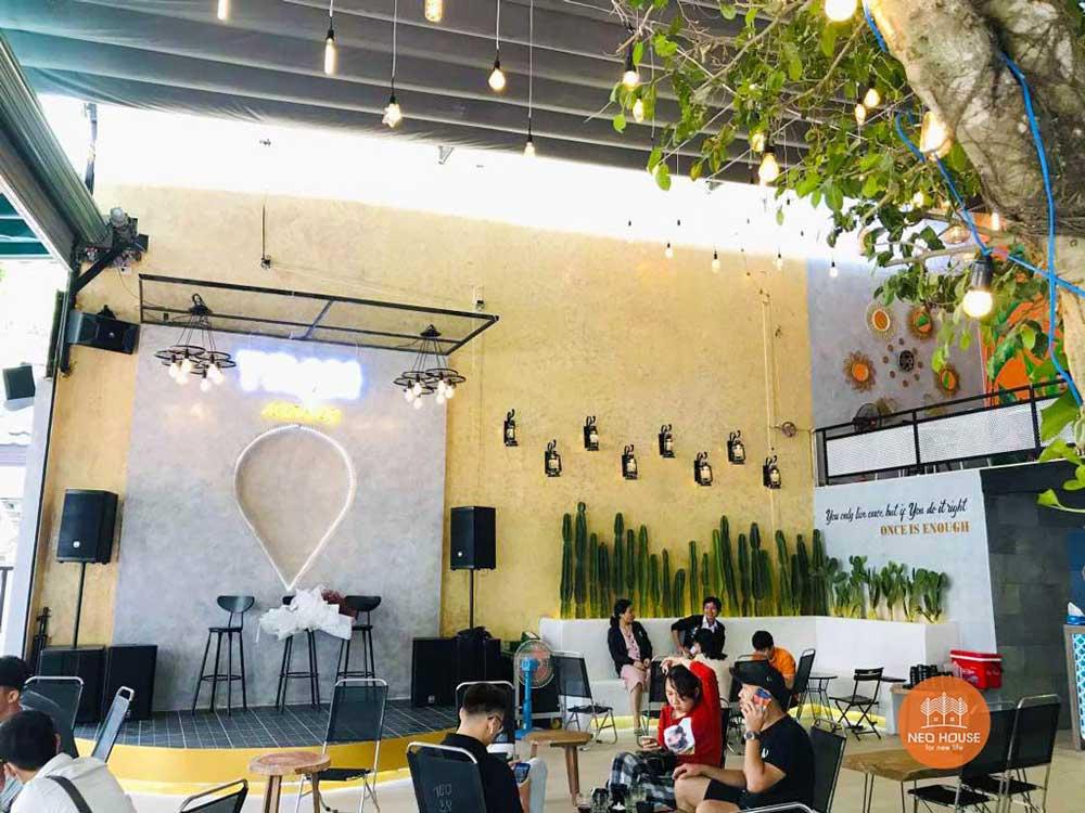 Hình thực tế thi công hoàn thiện quán cafe sân vườn đơn giản. Ảnh 2